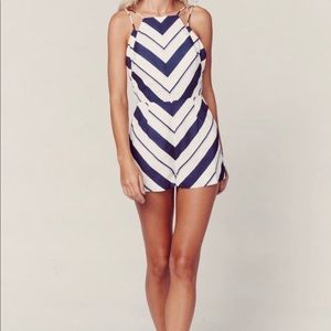 Revolve Finders Keepers Striped Romper XS